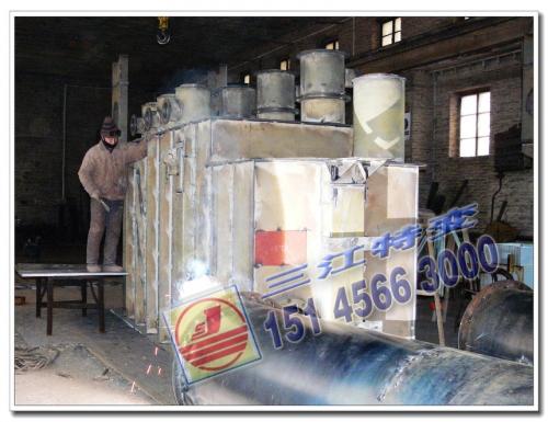 SZF11-31500-6638.5 钟罩式上节油箱完成焊接工序
